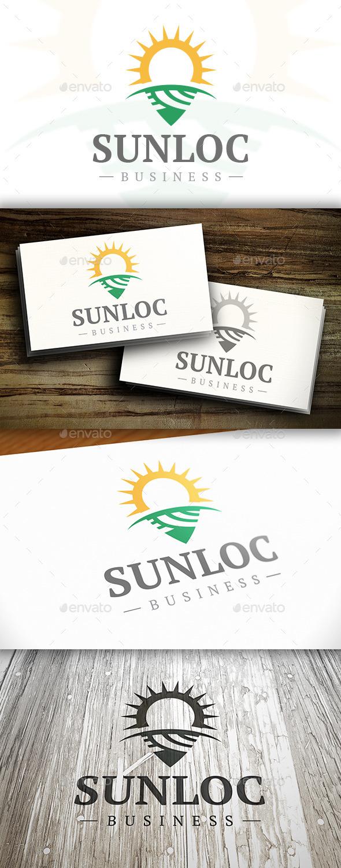 GraphicRiver Sun Locator Logo 10325220
