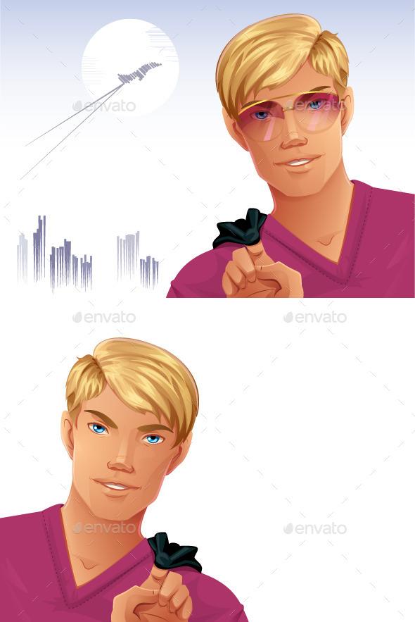 GraphicRiver Blonde Man 10325222