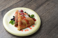 Crepe with raspberries and blueberries - PhotoDune Item for Sale