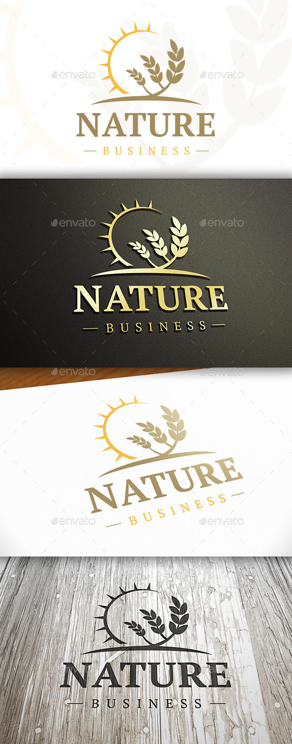 GraphicRiver Wheat Sun Logo 10325798