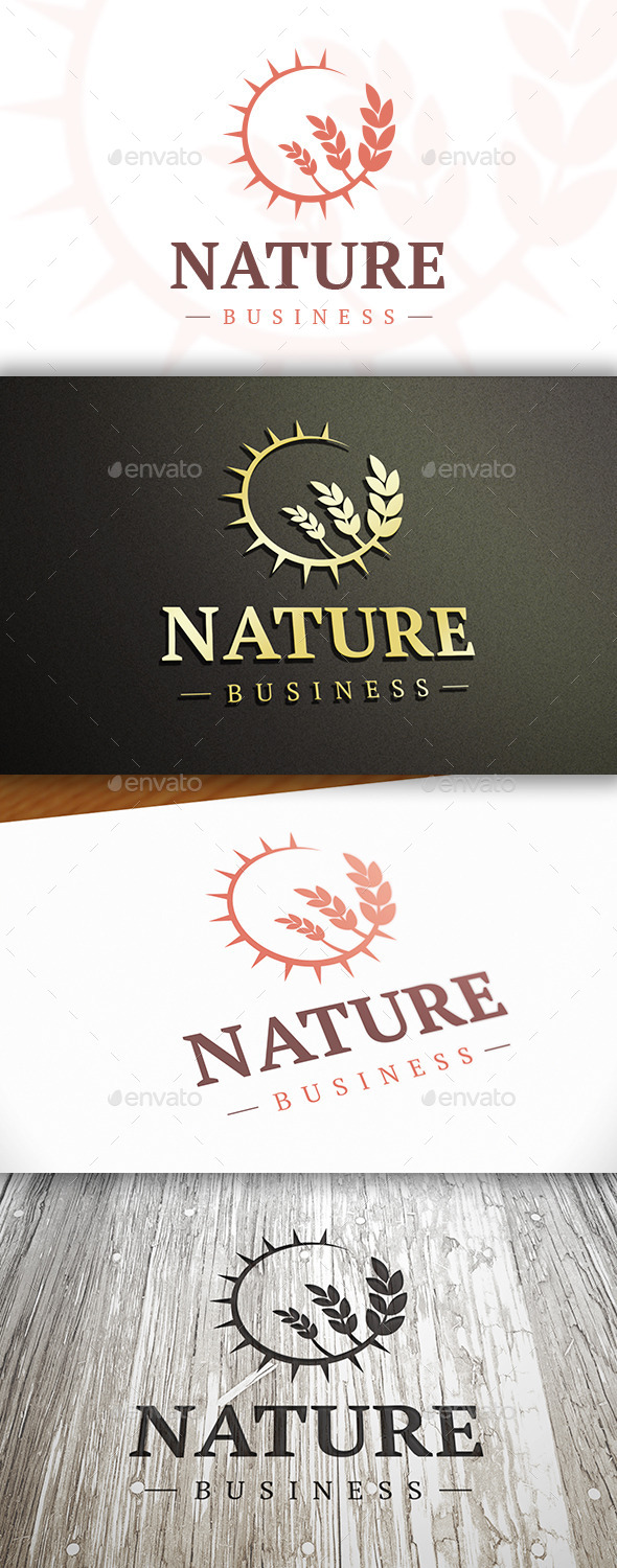 GraphicRiver Sun Wheat Logo 10326173