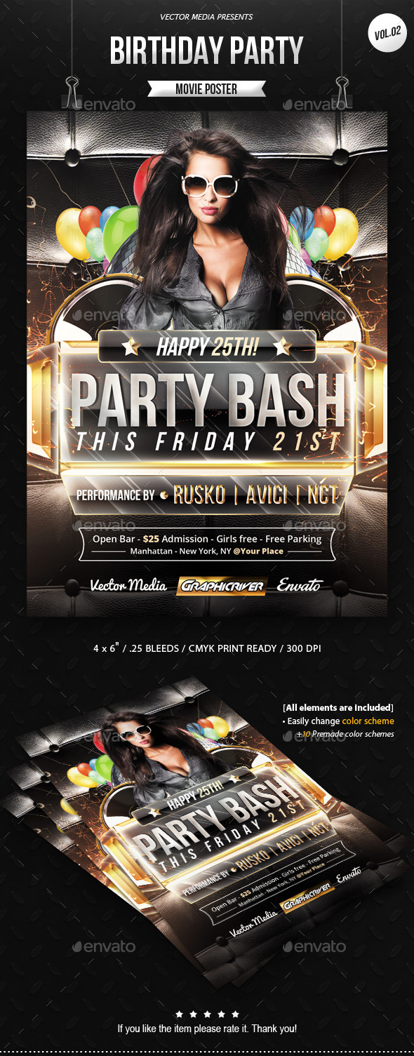 GraphicRiver Birthday Party Flyer [Vol.2] 10326480