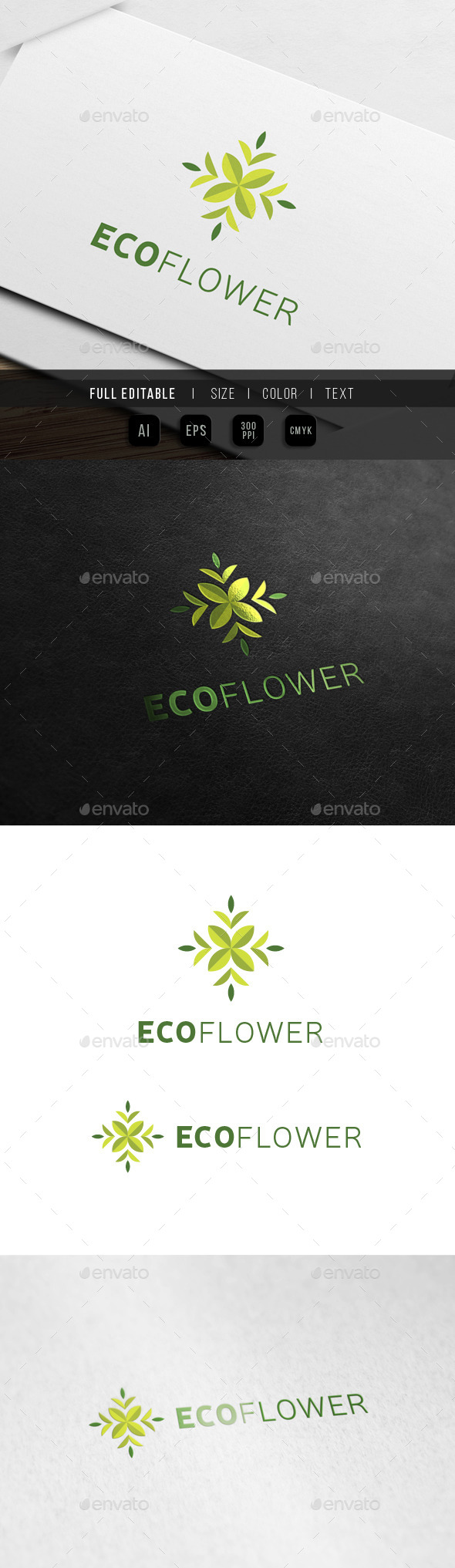GraphicRiver Eco Flower Floral Art 10326495
