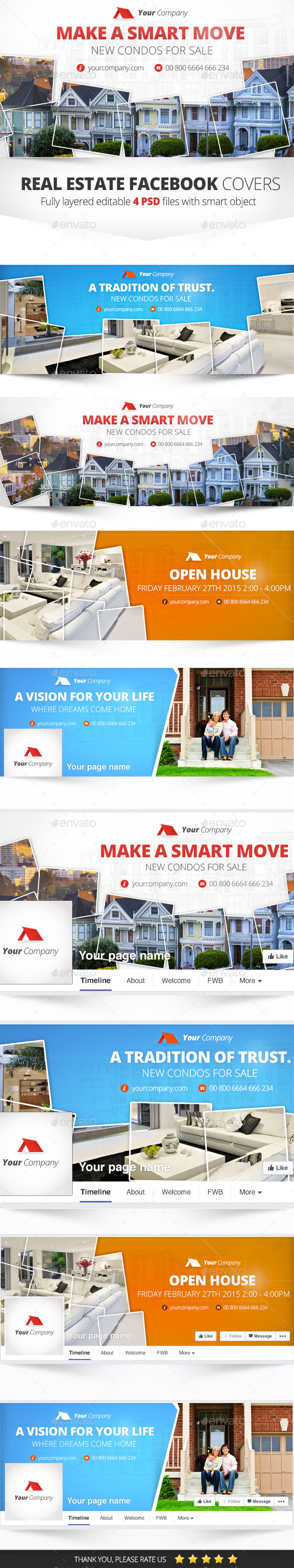GraphicRiver Real Estate Facebook Cover 4 PSD 10289564