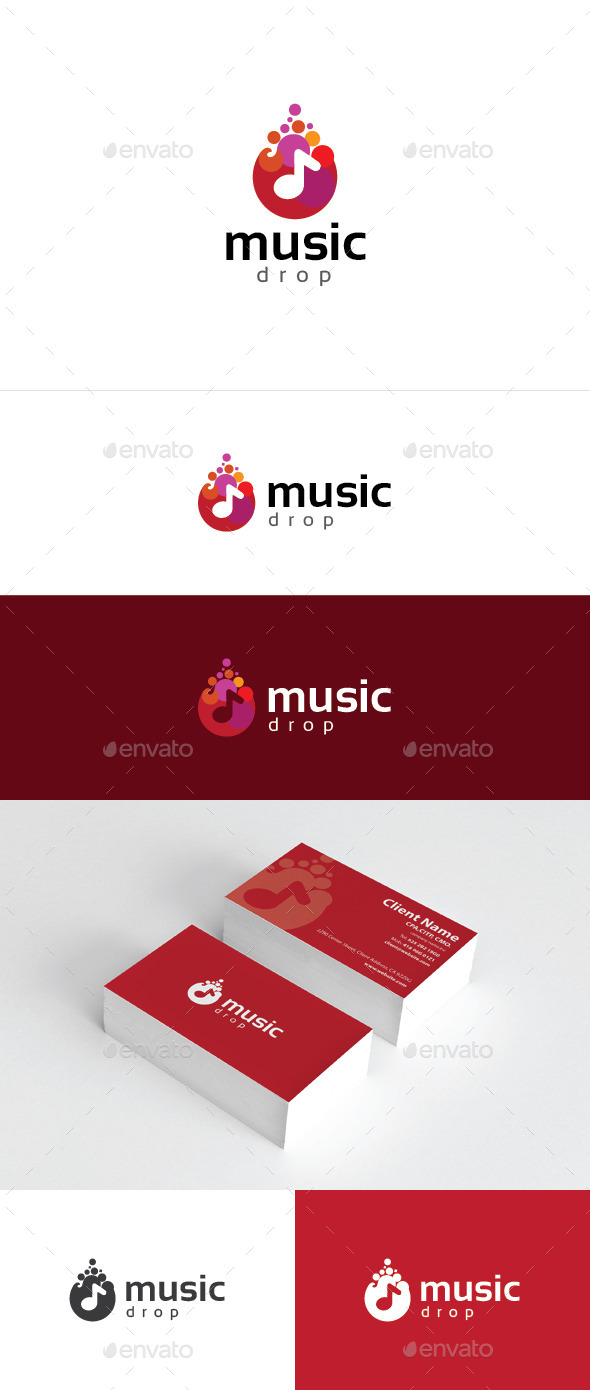 GraphicRiver Music Drop 10326631