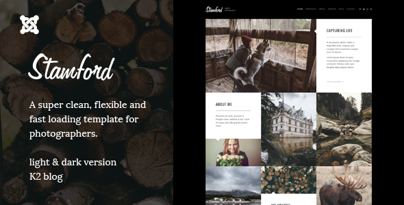 ThemeForest Stamford Joomla Photography Portfolio & Blog 10326691