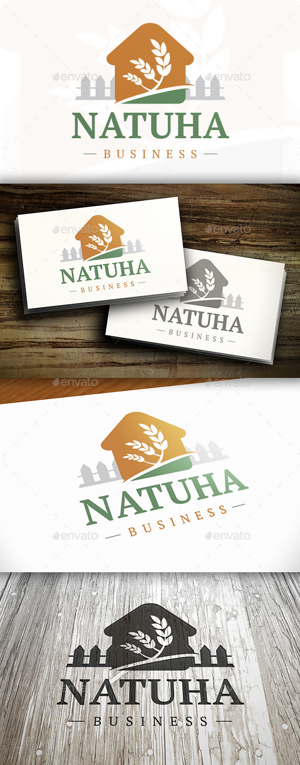 GraphicRiver House Nature Logo 10326818