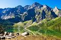 Peaks above the valley Sea Eye. The Polish Tatras - PhotoDune Item for Sale