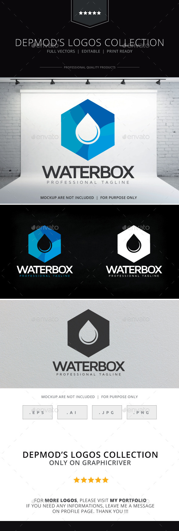 GraphicRiver Water Box Logo 10327040