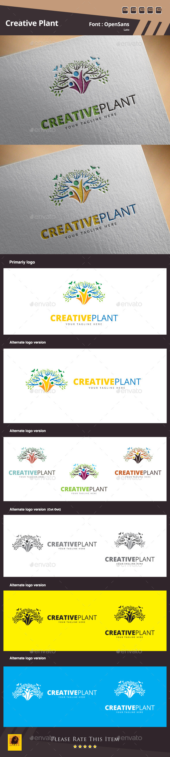 GraphicRiver Creative Plant Logo Template 10327273
