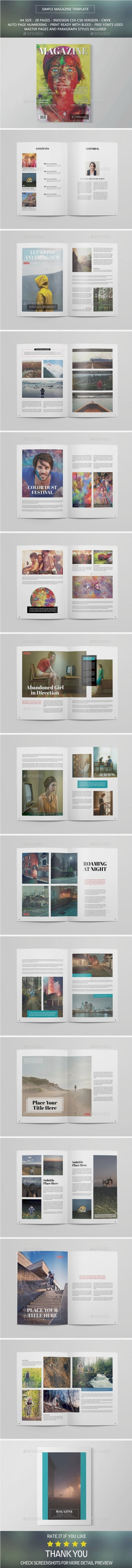 GraphicRiver Simple Magazine 10327283