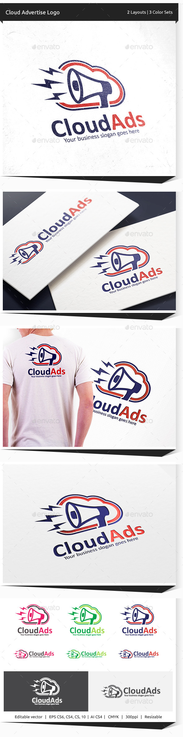 GraphicRiver Cloud Advert Logo 10304627