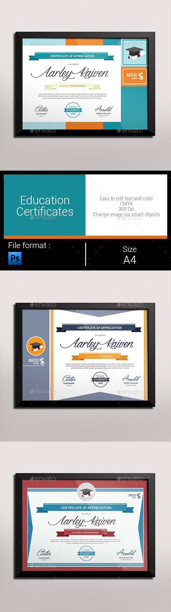 GraphicRiver Education Certificates 10327621