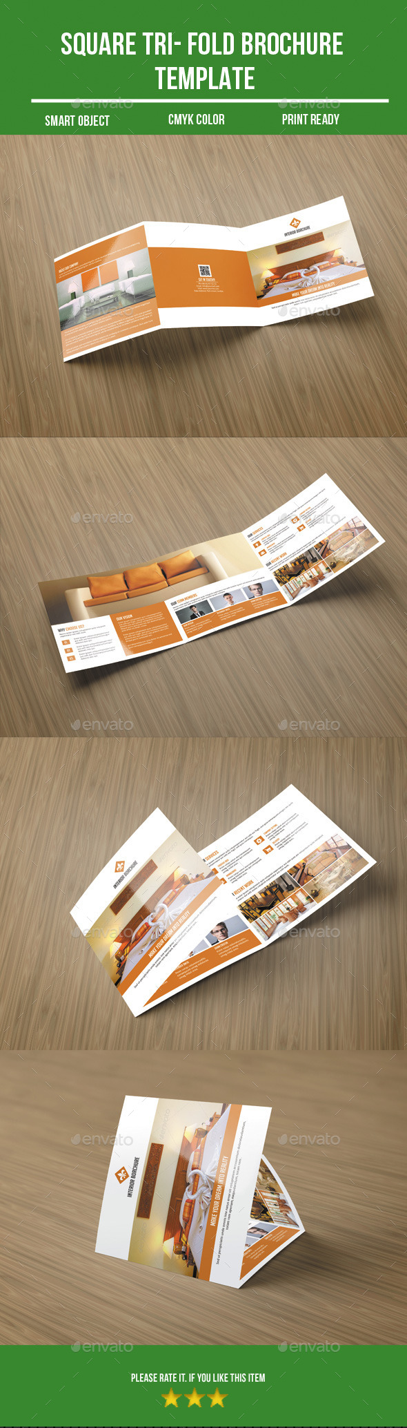 GraphicRiver Square Tri- Fold Interior Brochure 10327647