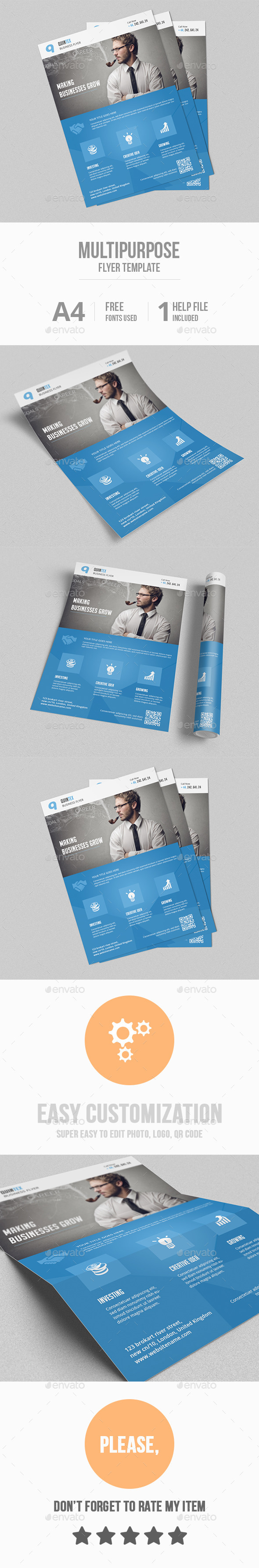 GraphicRiver Multipurpose Flyer Template 10327673