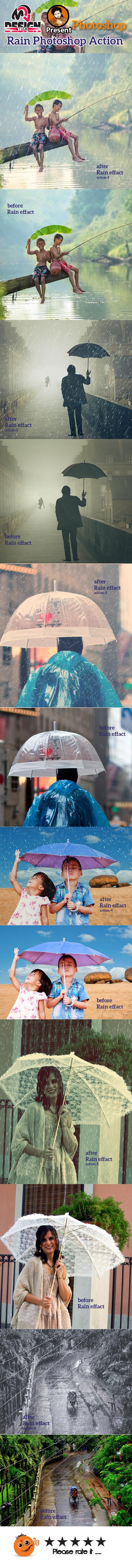 GraphicRiver Rain Photoshop Action 10328345
