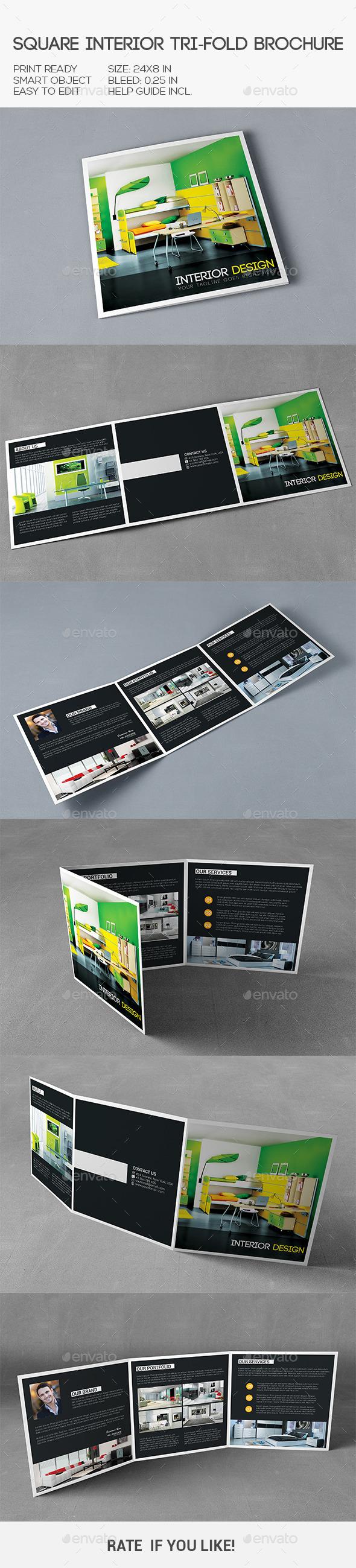GraphicRiver Square Interior Trifold Brochure 10286642