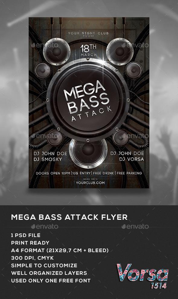 GraphicRiver Mega Bass Attack Flyer 10286703