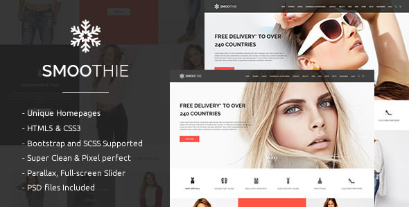 ThemeForest Smoothie Fashion Shopping HTML5 Template 10328776