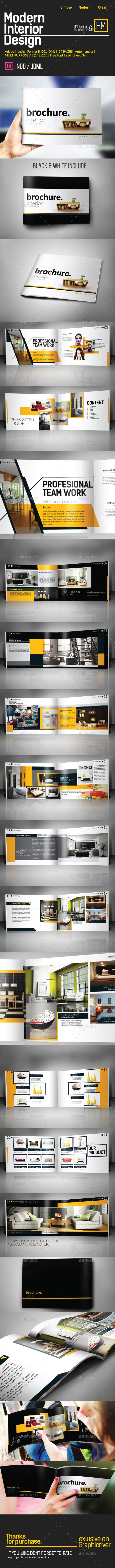 MODERN INTERIOR CATALOG OR PORTOFOLIO DESIGN
