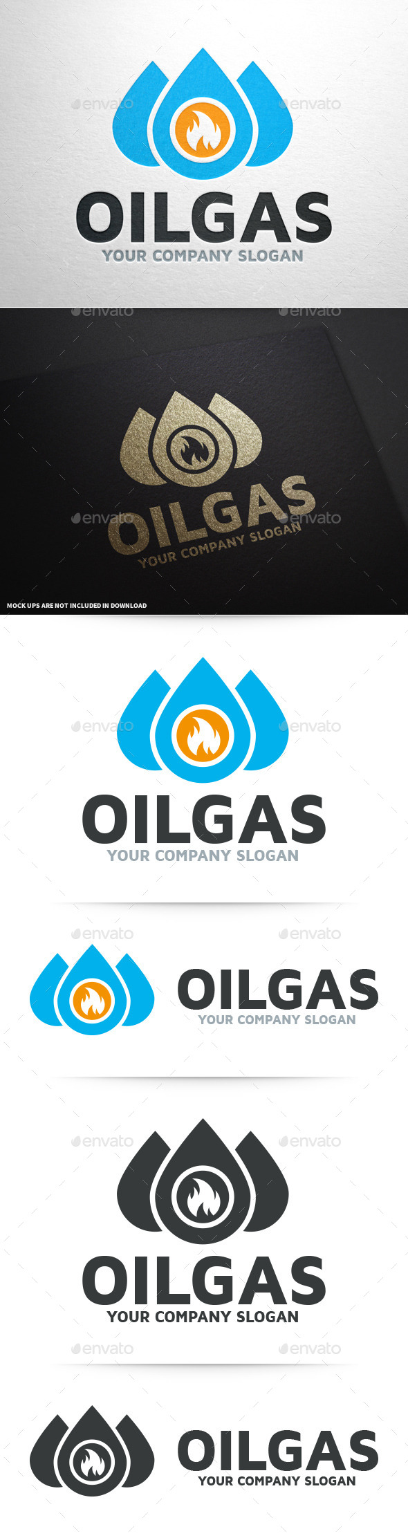 GraphicRiver Gas Oil Logo Template 10329312