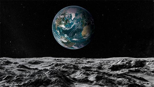 lunar landscape looking at earth - photo #24