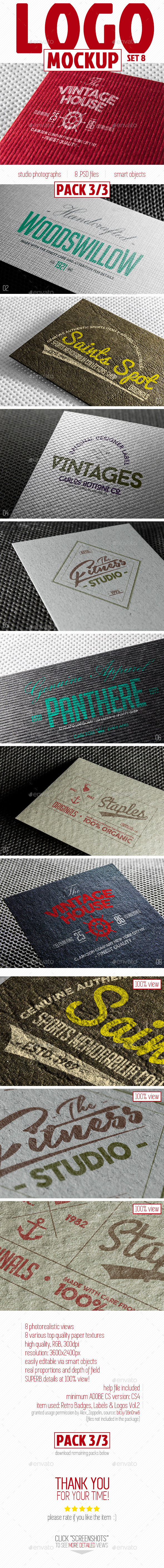 GraphicRiver Complete Paper Logo Mock-Up Pack 3 3 10329365