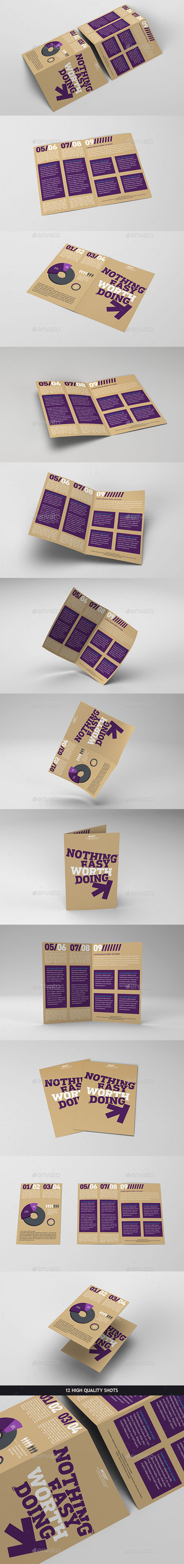 GraphicRiver Bi-fold Brochure Mockup Pack 10329393