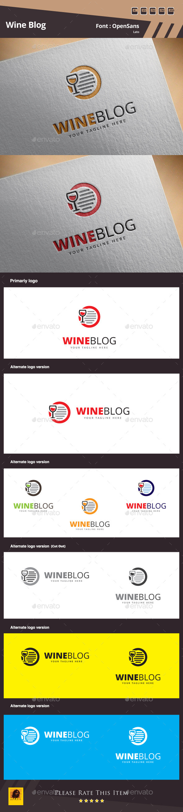 GraphicRiver Wine Blog Logo Template 10329624