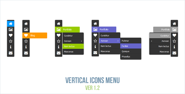 Vertical Icons Menu