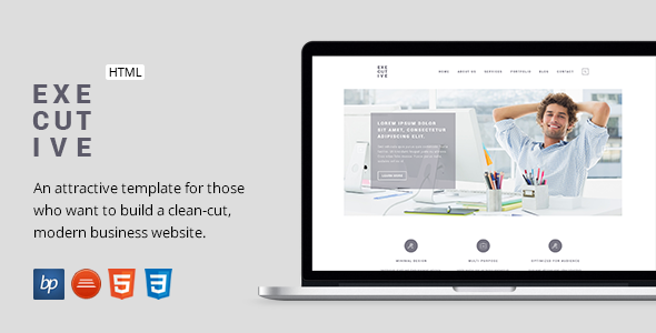 ThemeForest Executive Responsive Business HTML5 Template 10329826