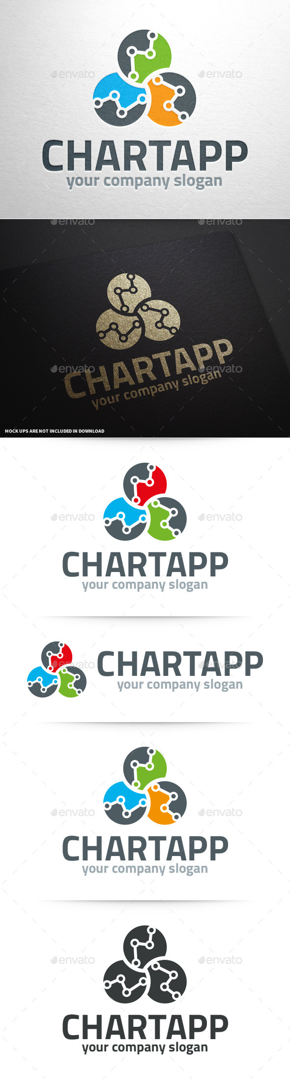 GraphicRiver Stats App Logo Template 10329842