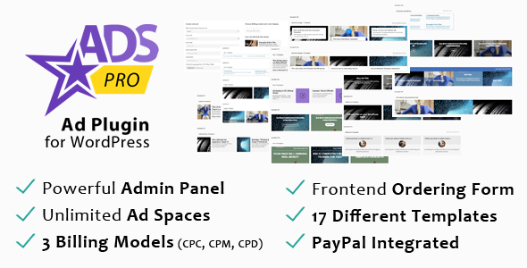 CodeCanyon ADS PRO Multi-Purpose Ad WordPress Plugin 10275010