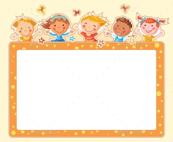GraphicRiver Happy Kids Rectangular Frame 10330109