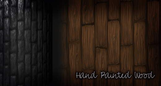 Hand Painted Wood CG Textures