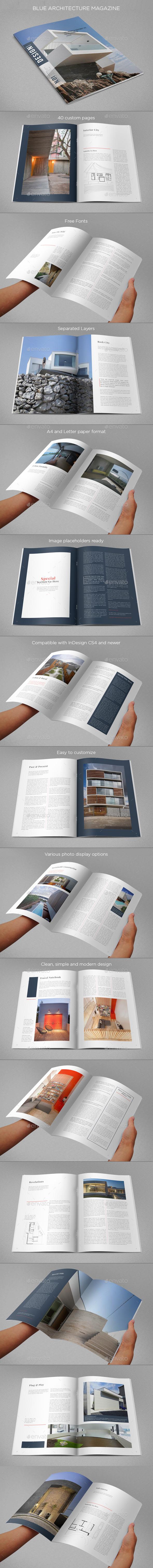 GraphicRiver Blue Architecture Magazine 10330311