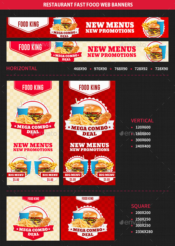 GraphicRiver Restaurant Fast Food Web Banners 10330496