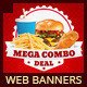 Restaurant Fast Food Web Banners - GraphicRiver Item for Sale