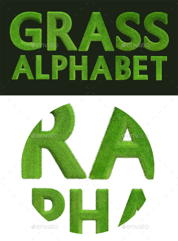 GraphicRiver Grass Alphabet 10330770