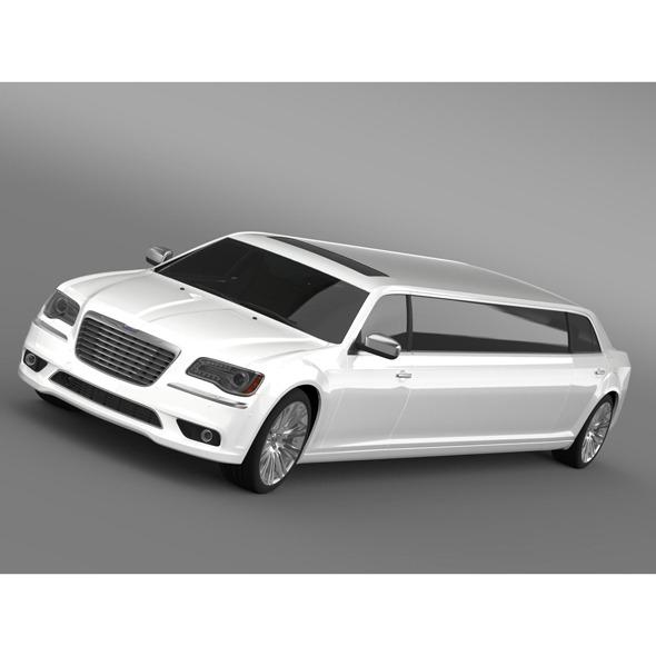 3d Model Chrysler 300C 2013 Limousine