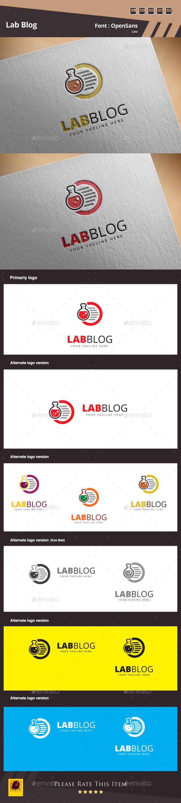 GraphicRiver Lab Blog Logo Template 10331364