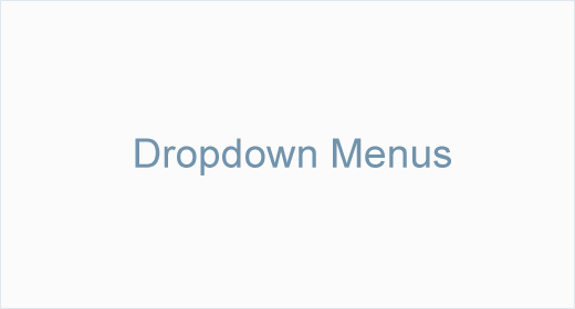 Dropdown Menus