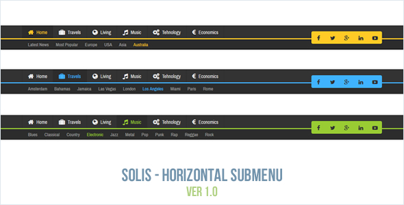 Download Solis - Horizontal Submenu nulled download