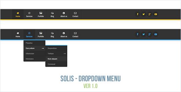 Solis - Dropdown Menu