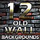 12 Old Wall Backgrounds - GraphicRiver Item for Sale