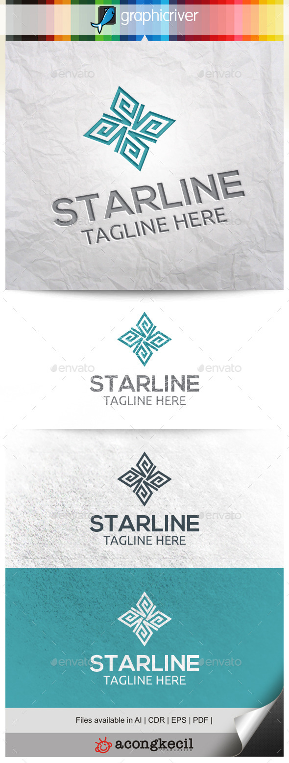 GraphicRiver Line Star 10331966
