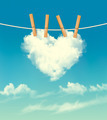 Valentine background with a heart shaped cloud. - PhotoDune Item for Sale