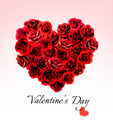 Valentine's Day Gift Card. Heart made of red roses - PhotoDune Item for Sale