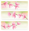 Three Spring banners with blossom brunch of pink flowers.  - PhotoDune Item for Sale