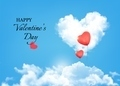 Valentine background with heart clouds and balloons. - PhotoDune Item for Sale